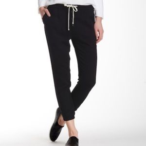 James Perse   Button Fly Black Crepe Pants
